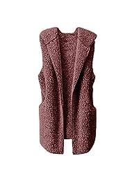 Amzeca Womens Vest Winter Warm Sweaters Hoodie Outwear Jacket Women's Shops