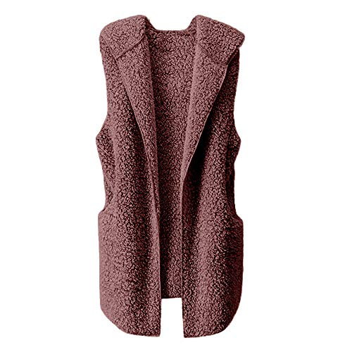 HYIRI Womens Vest Winter Warm Hoodie Outwear Casual Coat Sherpa Jacket