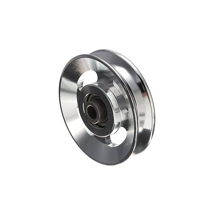 Drillpro 1PC Universal 88mm Aluminum Bearing Pulley Wheel Cable Gym Equipment Parts New