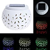 Matefield New Colour Changing Decorative Solar LED Filigree Table Light Garden Patio