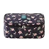 Packing Organizer,EVATECH Bra Underwear Storage Bag Travel Organizers Toiletry Bag Cosmetic Organizer Pouch(Flamingo Pattern)