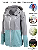 Soteer Women's Waterproof Raincoat Outdoor Hooded