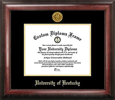 University of Kentucky Embossed Gold Foil Seal Graduate Diploma Frame - 2017 Graduation Diploma Frame