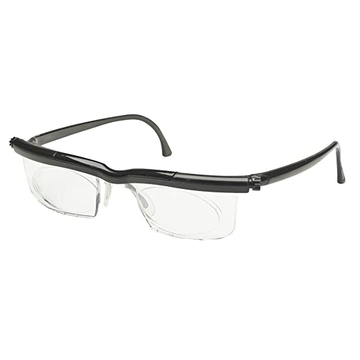 Clear Adlens Adjustable Eyeglasses Variable Focus Select Instant Prescription The Latest In Variable Power Optics Technology Unisex Great for Reading and Driving -6.0 to + 3.0 Diopter Range