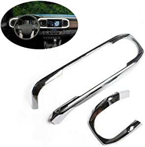 Fit for 2015-2020 TOYOTA Tacoma chrome Central console dashboard panel cover trim 2016 2017 2018 2019 accessories