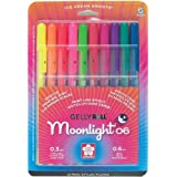 Sakura 58176 10-Piece Gelly Roll Blister Card Moonlight 06 Fine Point Gel Ink Pen Set, Assorted Colors