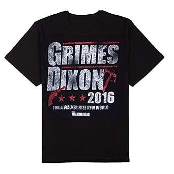 The Walking Dead Grimes Dixon 2016 Adult T-Shirt-XXXL