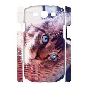 3D Samsung Galaxy S3 Case Blue Eyes 7, Samsung Galaxy S 3 Case - [White] Naza