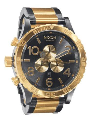 NIXON (ニクソン) 5130 CHRONO ヒフティーワンサーティー クロノ GUNMETAL/GOLD NA083595-00 メンズ