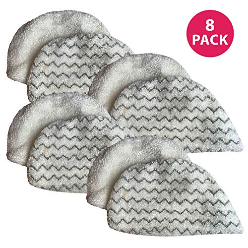 Crucial Vacuum Replacement Mop Pads - Compatible With Bissell Part # 5938 & 203-2633 - Bissell Powerfresh Mop Pads Perfect For Steam Mops 19402, 19404, 19408, 1940A, 1940Q & 1940T - Washable (8 Pack) (Best Steam Mop For Hardwood Floors 2016)