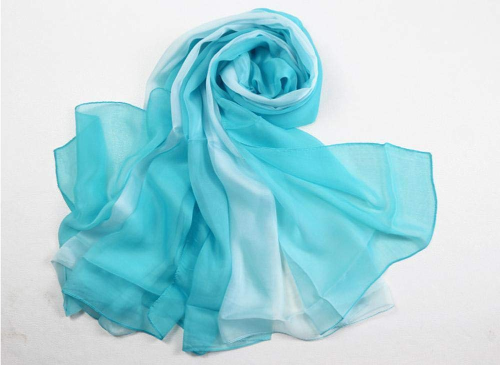 Green Weiwei Ladies Silk Shawl Silk Scarf Send Friends and Family Lightweight and Breathable 180CM65CM