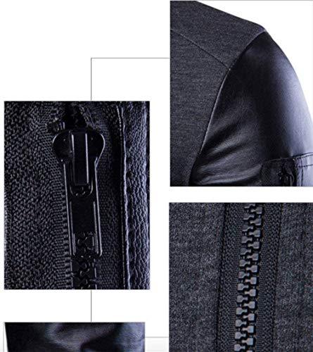 Ecopelle Ecopelle Giubbino Tasche Tasche Schwarz Alla Rivestimenti Moda Cappotto Collo Alto Invernale Sportiva Uomo Giacca Giubbotto Screenes Tuta della xn6YqTFY