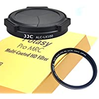 Fotasy ALC-LX100 Auto Self-Retaining Lens Cap & 43mm 16 Layer Nano Multi-Coated MRC HD Filter for Panasonic LUMIX DMC-LX100
