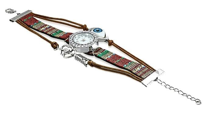Pulsera de bisutería de 3 hileras y reloj de mujer, de moda, Rodeado por