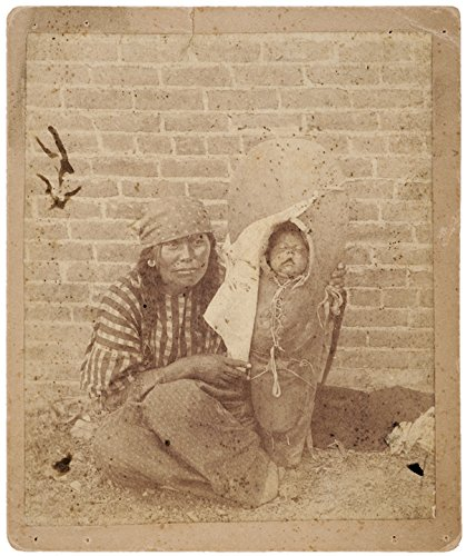 Photograph 1890 - c. 1890, Native American Indian Woman Holding Traditional Papoose Photograph