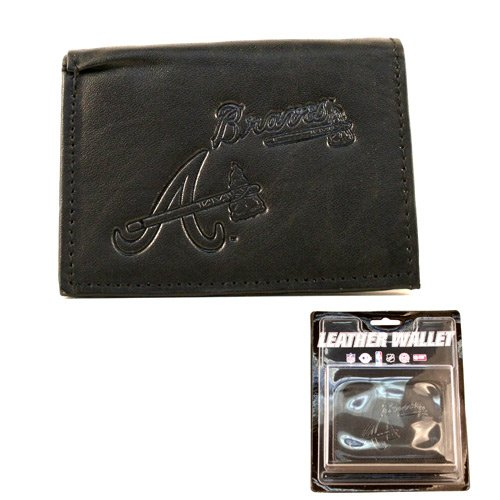 Atlanta Braves Black Leather Tri-fold (Atlanta Braves Embossed Leather)