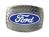 Ford Oval Diamond Plate Buckle