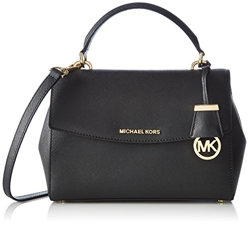 MICHAEL Michael Kors Women's Ava Small Satchel, Black, One Size by MICHAEL Michael Kors