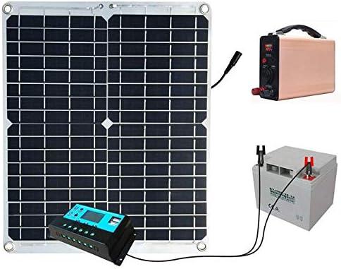 BAYUE Kit Pannello Solare 30W 12V monocristallino con regolatore di Carica Solare + Cavo di prolunga con Clip per Batteria per Barca Marina da Fuoristrada 12V