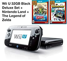 Nintendo Wii U 32GB Deluxe Console with GamePad, Nintendo Land, The Legend of Zelda: The Wind Waker (Certified Refurbished)