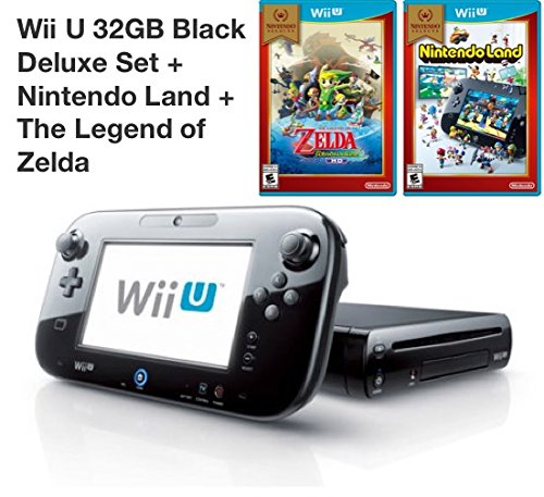 Price comparison product image Nintendo Wii U 32GB Deluxe Console with GamePad,  Nintendo Land