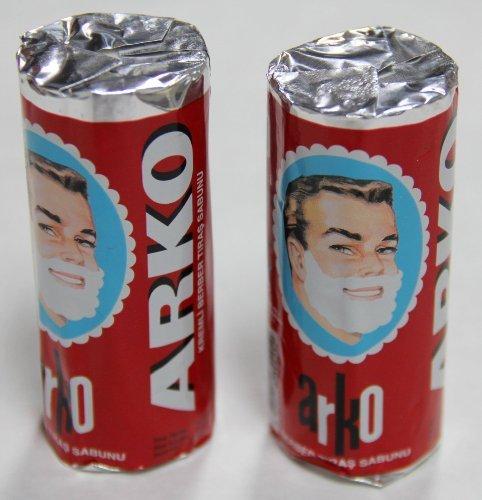 Arko Shaving Soap Stick, White, Pack of 2, 75g each - Shave Soap Stick