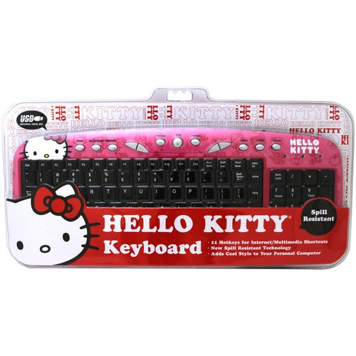 hello kitty multimedia computer keyboard import it all. Black Bedroom Furniture Sets. Home Design Ideas