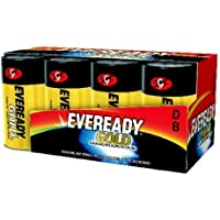 ENERGIZER A95-8 / EVEREADY D SIZE FAMILY PACK - Packaged Quantity: 8