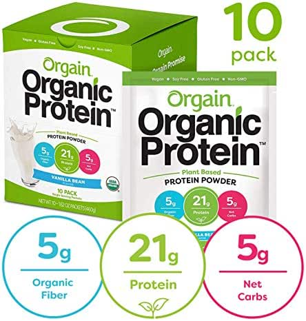 Protein & Meal Replacement: Orgain Organic Protein Powder Travel Packs