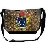 Lov6eoorheeb Unisex Coat Of Arms Of Cook Islands Wide Diagonal Shoulder Bag Adjustable Shoulder Tote Bag Single Shoulder Backpack For Work,School,Daily
