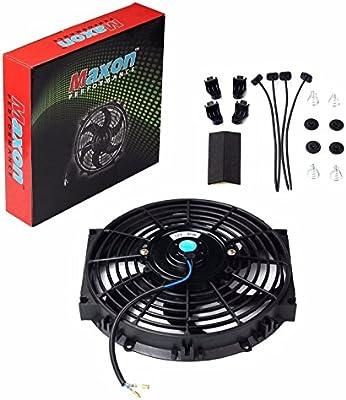 "10/"" inch Universal Slim Fan Push Pull Electric Radiator Cooling 12V Mount Kit"