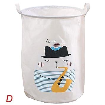 Laundry Basket Hamper Sorter Clothes Storage Folding Cart Canvas Bag Organizer
