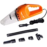 COSSCCI Auto Car Vacuum Cleaner 120W High Power, Wet&Dry, Handheld, 16.4FT(5M)Power Cord, 2 HEPA Filters