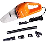 COSSCCI Car Vacuum Cleaner High Power, DC 12V ,120W Portable Lightweight Powerful Handheld Wet & Dry Auto Vacuum Cleaner Dustbuster with 16.4 FT(5M) Power Cord (Orange)