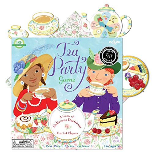 eeBoo Tea Party Spinner Game for Girls