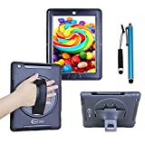 Cellular360 Shockproof Case for Apple iPad 2 iPad 3 iPad 4, Protective and Handy Case with a 360 Degree Rotatable Kickstand and Handle (Black)
