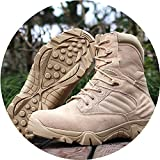 Men Military Tactical Boots Winter Leather Black Special Ankle Combat Boots Safety Shoes,Sandy
