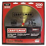 Craftsman 10 in. Saw Blade, Crosscut/Plywood - 200T - 26811