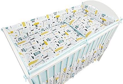 Baby nursery Bedding Set Fit 140x70 lit Bébé 2 3 5 6 PC Anti-chocs oreiller couette