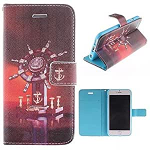 YULIN Steering Wheel Design PU Leather Full Body Cover with Stand and Money Holder for iPhone 6