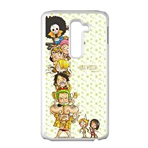 LG G2 Cell Phone Case White ONE PIECE ONW Unique Hard Cell Phone Case