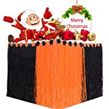Onshine Table Skirt Christmas Desk Skirt Cover with Velcro Strip and Cartoon Cardboard for Party Decorations