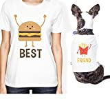 365 Printing Hamburger And Fries Small Pet Owner Matching Gift Outfits For Her (ONWER - M/PET - XL)