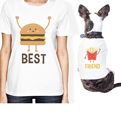 (365 Printing Hamburger And Fries Small Pet Owner Matching Gift Outfits For Her (ONWER - S/PET - S))