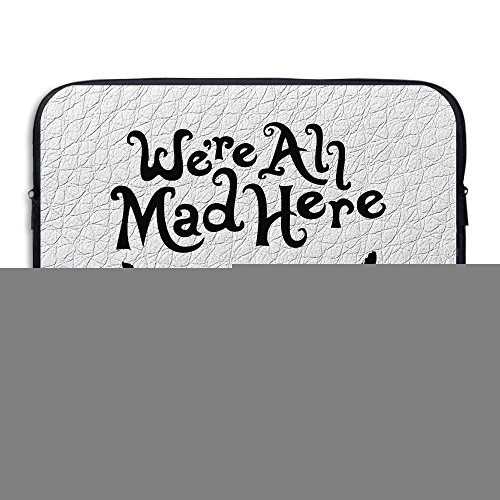 [CGH Seven Evil Teeth We're All Mad Here Laptop Bag For IPad Pro/laptop/Macbook Size13 Inch Black] (2 Ipads Halloween Costume)