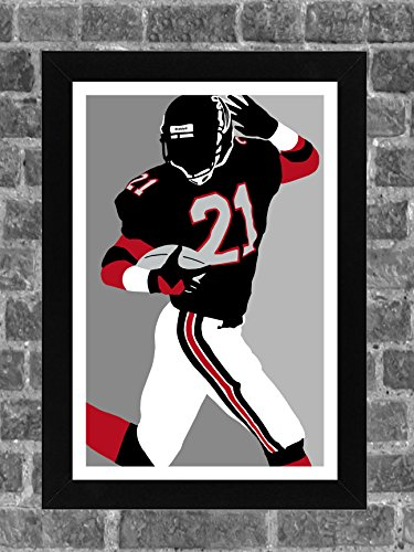 Atlanta Falcons Deion Sanders Portrait Sports Print Art 11x17 -