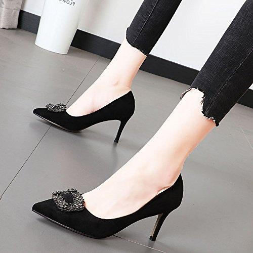 Xue Qiqi Mattes wies auf das Wasser bohren für seichte seichte seichte Mund einzelne Schuhe fein mit high-heel Damenschuhe rot Hochzeit Schuhe 1f414c