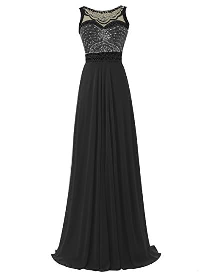 Dresstells reg; Long Prom Dress Jewel Beadings Chiffon Evening Party Gowns