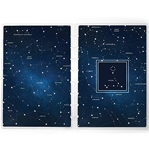 Disc-bound Planner Cover Replacement | Constellations Star Sign