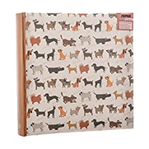 Arpan 6x4'' Photo Album Slip In Case Bookbound Memo Album for 200 photos (Scotty Dogs)
